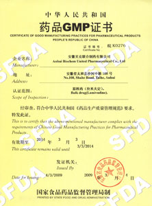 Certificate of GMP For Pharmaceutical